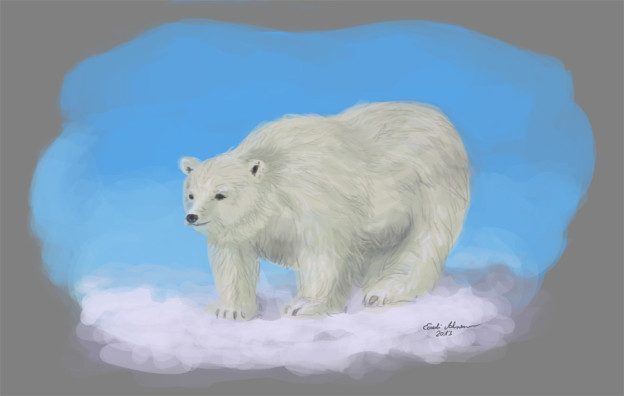 Polar bear by Adrienn Ecsedi