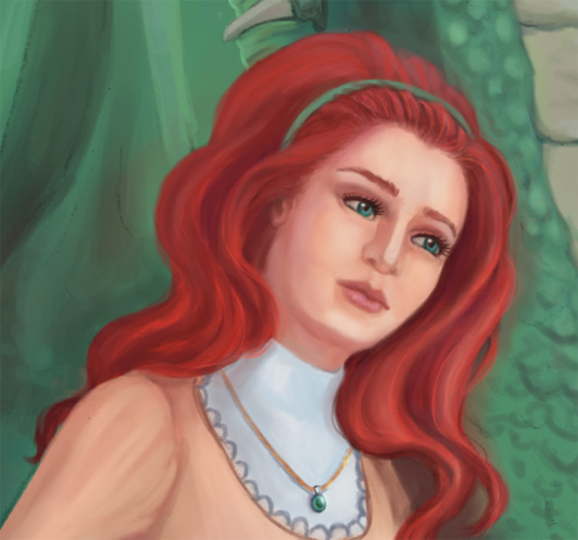 Red haired fantasy woman