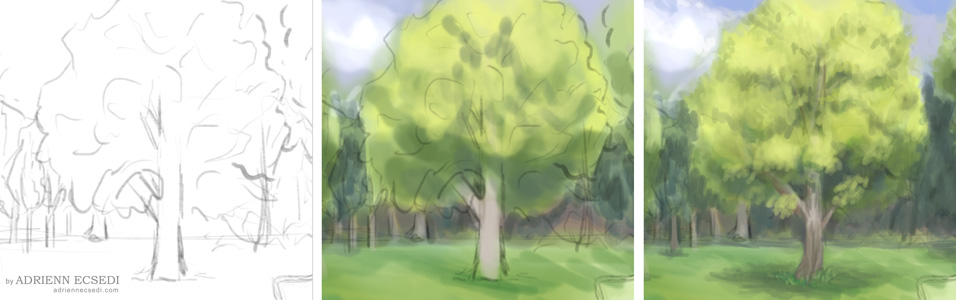 How to paint tree