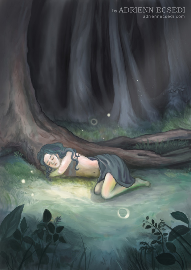 Sleeping in the Woods by Adrienn Ecsedi