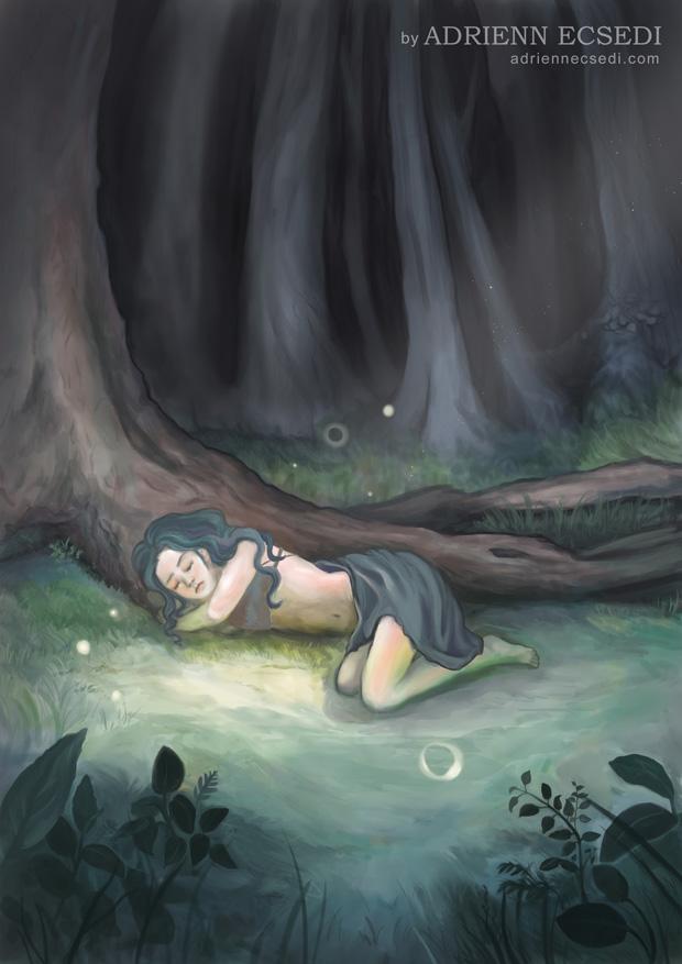 Sleeping in the Woods by Adrienn Ecsedi