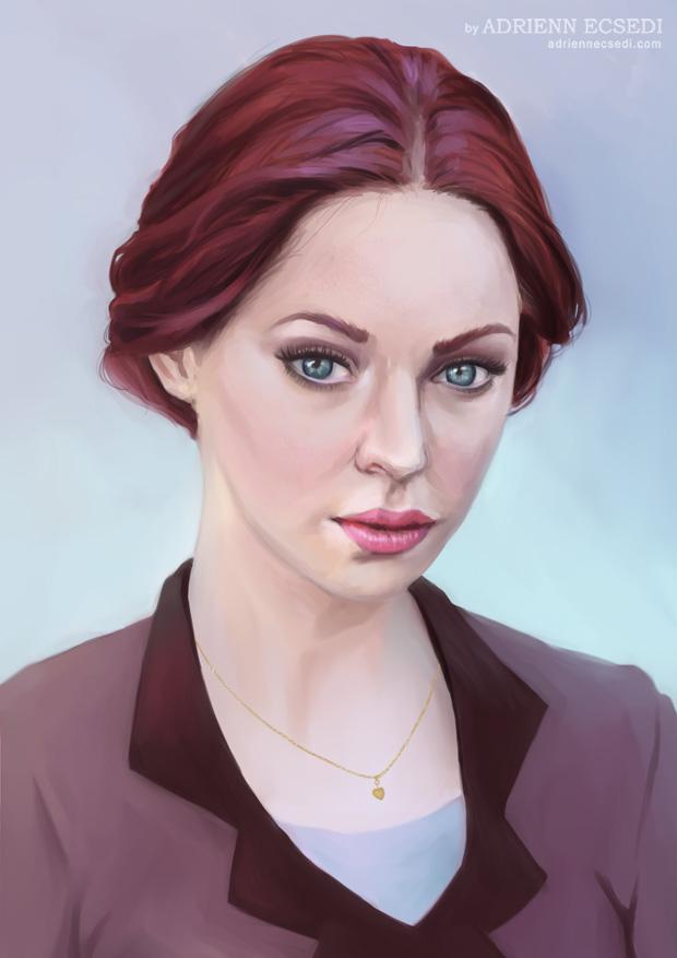 Woman portrait by Adrienn Ecsedi