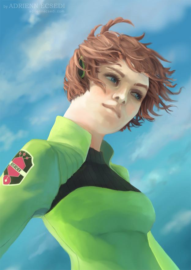 Kirie Konami fanart by Adrienn Ecsedi