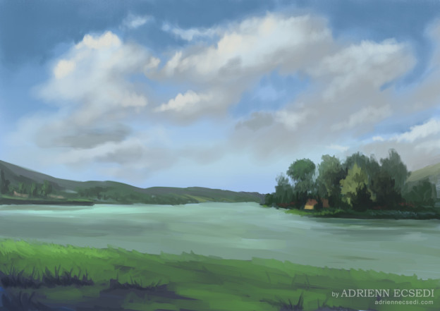Orfű Lake - Landscape painting