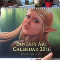 Fantasy Art Calendar 2016 Cover photo