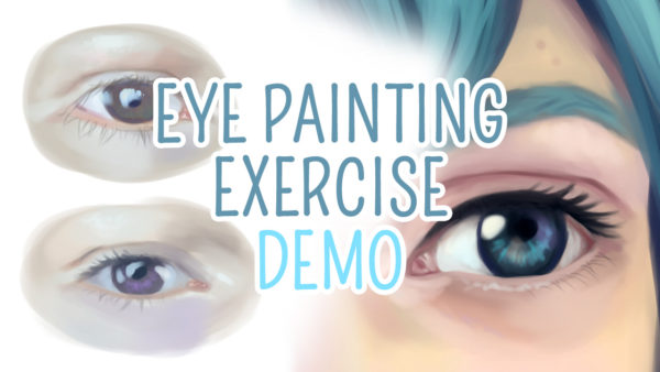 Digital eye painting exercise video