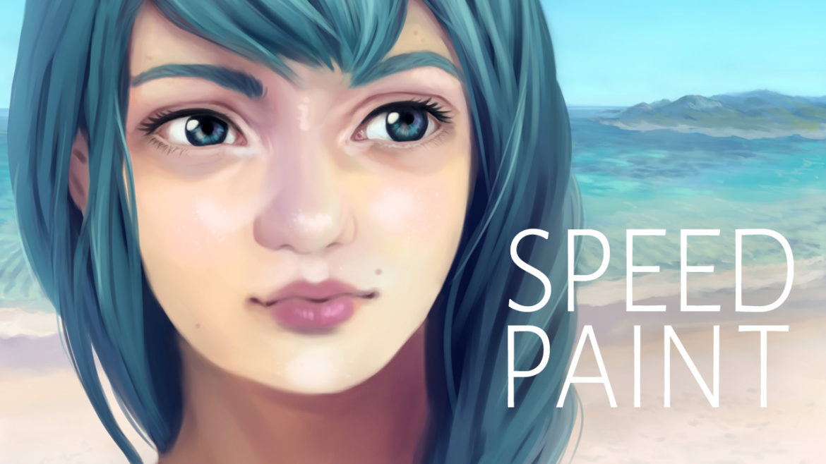 Aqua SpeedPaint YouTube Header